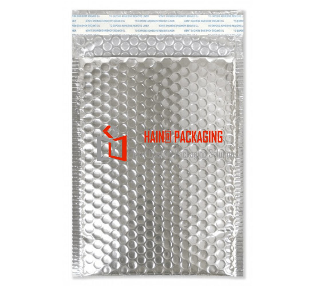silver bubble mailing bag