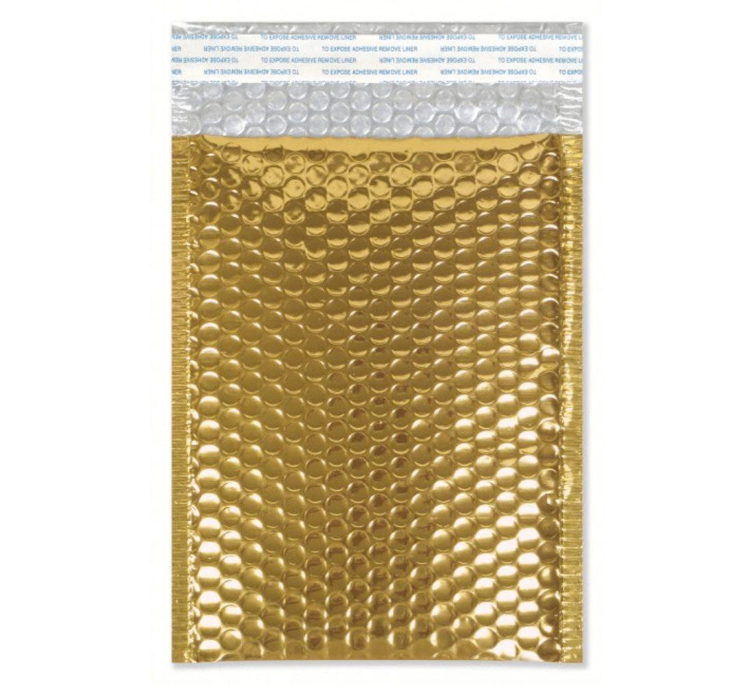 gold bubble mailing bag