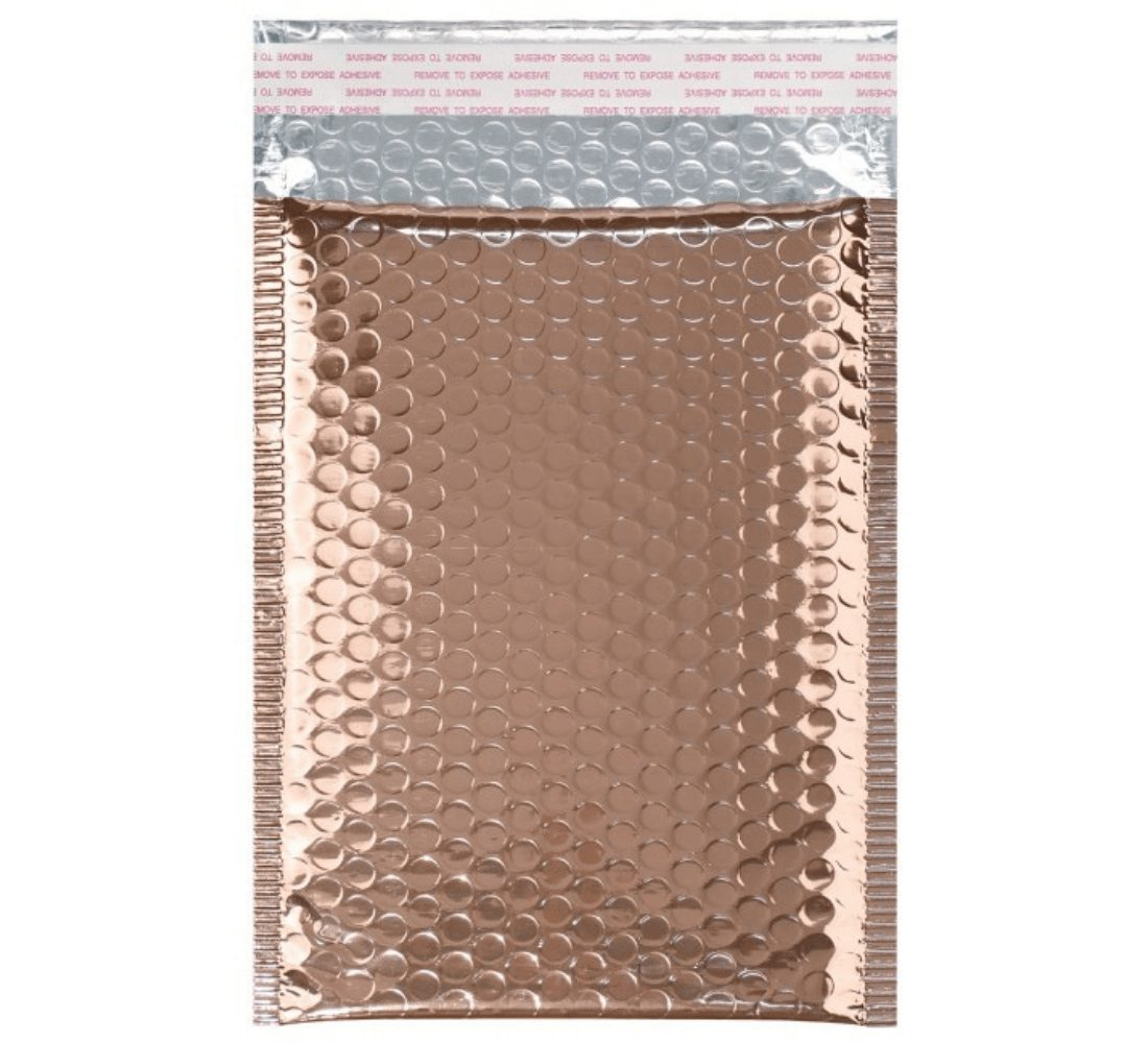 rose gold bubble mailing bag