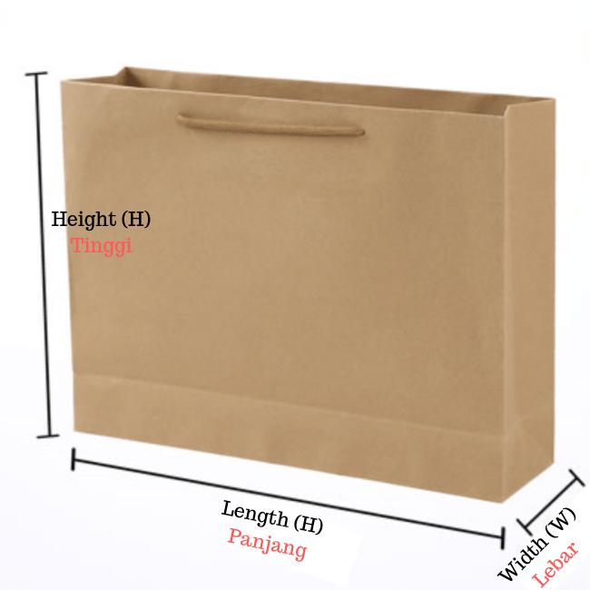 horizontal craft paper bag