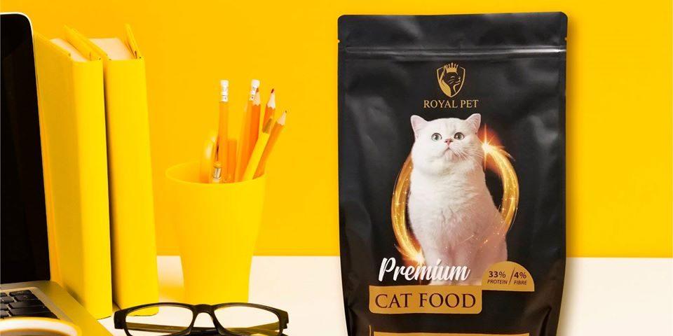 cat food packaging