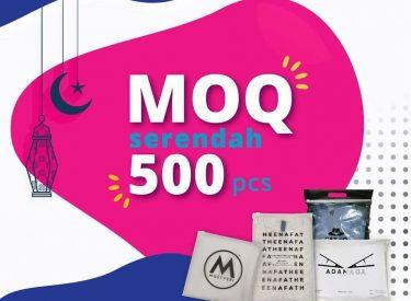 MOQ SLIDER TOP ZIP BAG